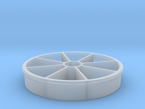 Apple Slicer 100mm/4-in Diameter in Smooth Fine Detail Plastic
