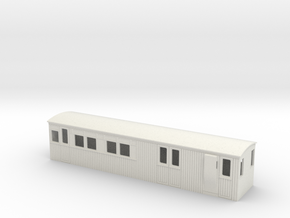 :009 colonial 1st saloon brake coach in White Natural Versatile Plastic