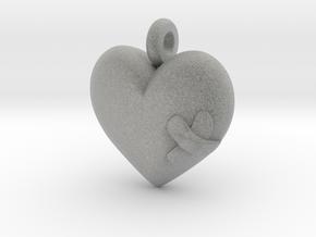 Wounded Heart Pendant in Metallic Plastic