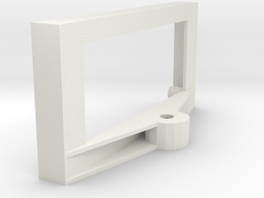 Boe-Bot Ping Servo Mount in White Natural Versatile Plastic
