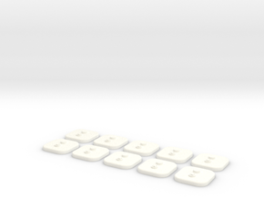 bX Minifig Base (Square)  / 10 pieces in White Processed Versatile Plastic