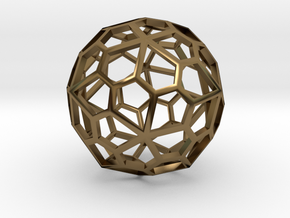 Polyhedral Pendant in Polished Bronze