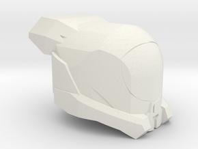 Brute Helm in White Natural Versatile Plastic