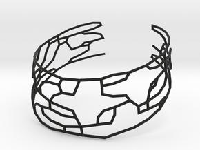 Collar Necklace S03-cylinders steel&plastic in Black Natural Versatile Plastic