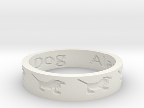 by kelecrea, engraved: Alazar The Gator Dog  in White Natural Versatile Plastic