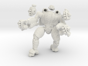 Mech suit with twin missile pods.(12) in White Natural Versatile Plastic