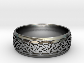 Celtic ring 03 in Polished Silver