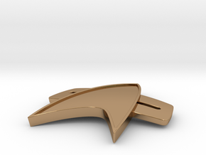 Starfleet 2370s Combadge in Polished Brass