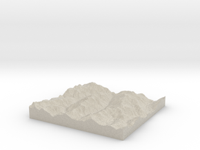 Model of McCoy Peak in Natural Sandstone