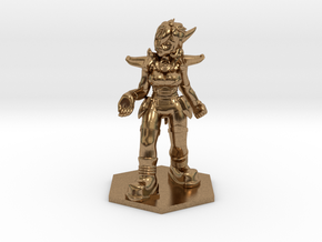 Helja, Dwarven Dracomancer 1:36 Scale in Natural Brass