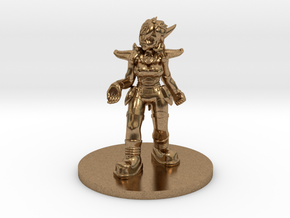 Helja, Dwarven Dracomancer D&D/1:54 Scale in Natural Brass