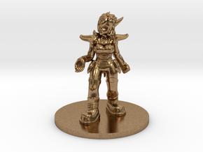 Helja, Dwarven Dracomancer D&D/1:54 Scale in Natural Brass