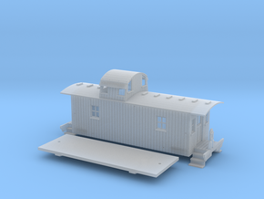 N scale Pennsylvania N6B Caboose in Smooth Fine Detail Plastic