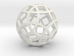 Stripsphere Pendant in White Natural Versatile Plastic