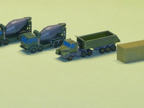 Construction Site Trucks 1 1/285 6mm in Smooth Fine Detail Plastic
