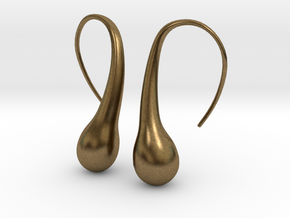 Bubble earring in Natural Bronze