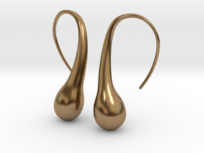 Bubble earring in Natural Brass