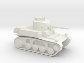 M3 Stuart (6mm, 1:300 scale) in White Natural Versatile Plastic