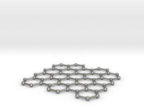 Graphene Lattice in Natural Silver