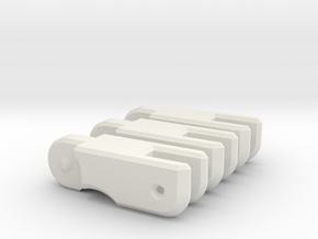 MP Seeker spare fingers in White Natural Versatile Plastic