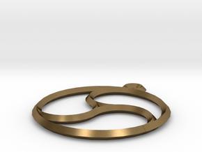 Trefoil Pendant in Natural Bronze