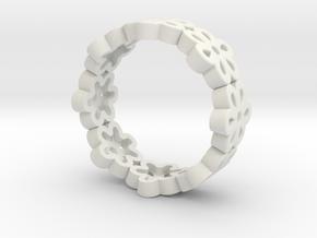 flower band #2 in White Natural Versatile Plastic
