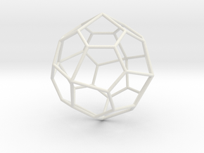 PentagonalIcositetrahedron 70mm in White Natural Versatile Plastic