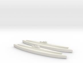 U-862 (Type IXD2 U-Boat) 1/1800 x2 in White Natural Versatile Plastic