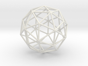 PentakisDodecahedron 70mm in White Natural Versatile Plastic