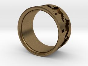 Pied de poule ring in Natural Bronze