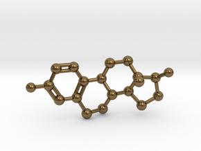 Estrogen (Estradiol) Molecule Pendant BIG in Natural Bronze