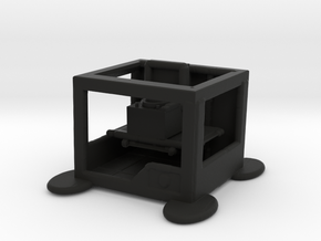 3d Printer printing Record Player  in Black Natural Versatile Plastic