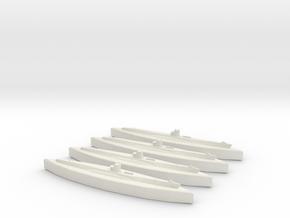 U-100 (Type VIIB U-Boat) 1/1800 x4 in White Natural Versatile Plastic