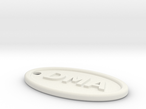 DMA keyfob #1 in White Natural Versatile Plastic