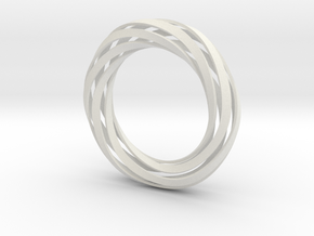 Twist Bracelet (XS) in White Natural Versatile Plastic