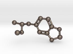 Mdma Molecule Pendant BIG in Polished Bronzed Silver Steel