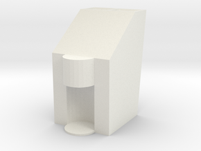 Mixing Vortex Shot Dispenser in White Natural Versatile Plastic