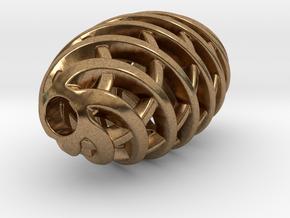 Tritium Pendant 1 (All Materials) in Natural Brass