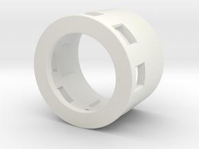 Speaker Holder - 20mm Speaker (21.5mm OD) in White Natural Versatile Plastic