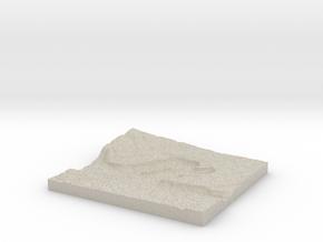 Model of Dry Falls Junction in Sandstone