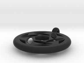 star of david pendant (variation) in Black Natural Versatile Plastic
