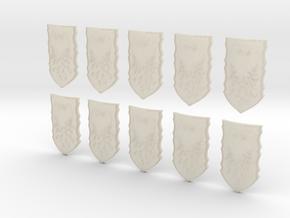 10 28mm Custom Phoenix Shields in White Acrylic