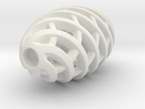 Tritium Pendant 1 (All Materials) in White Natural Versatile Plastic