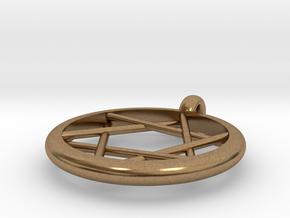 star of david pendant in Natural Brass