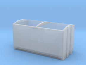 LNWR 6ton Refrigerator Van body - 4mm scale in Smooth Fine Detail Plastic
