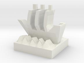 Ship in White Natural Versatile Plastic
