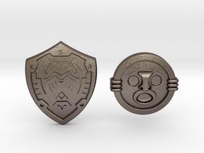 Shield Pack II in Polished Bronzed Silver Steel