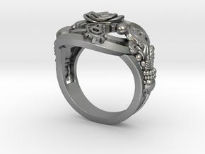 Botanica Mechanicum Ring SIZE 6 in Natural Silver