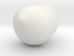 Bascinet Helmet in White Natural Versatile Plastic