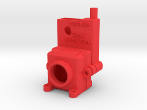 FPV Housing for Camera and Transmitter in Red Processed Versatile Plastic